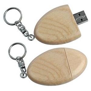 CLE USB EN BOIS JONQUILLE PUBLICITAIRE
