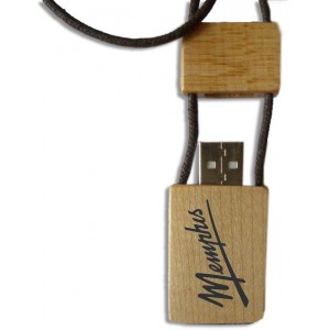 CLE USB EN BOIS TOUR DU COU PUBLICITAIRE