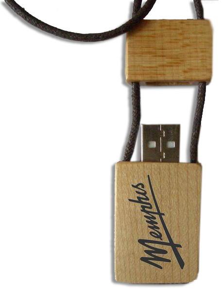 CLE USB EN BOIS TOUR DU COU