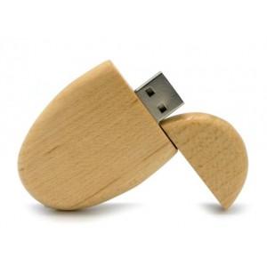 CLE USB OVALE EN BOIS PUBLICITAIRE