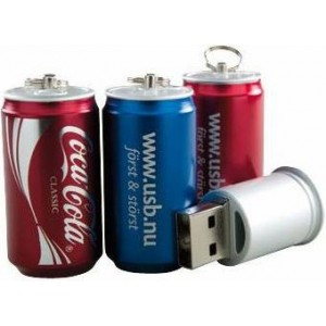 CLE USB FORME CANETTE PUBLICITAIRE