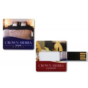 CLE USB QUADRI SQUARE CARD PUBLICITAIRE