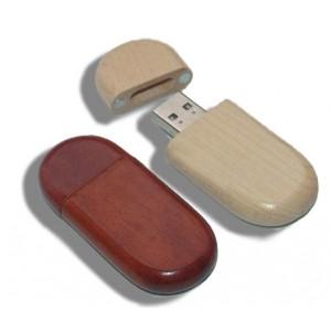 CLE USB EN BOIS CAMOMILLE PUBLICITAIRE