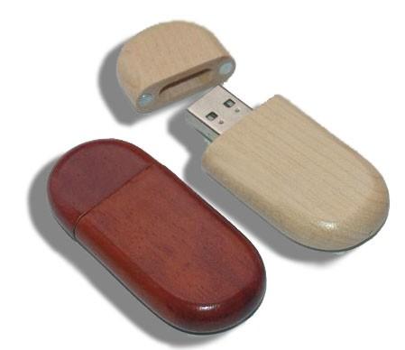 CLE USB EN BOIS CAMOMILLE