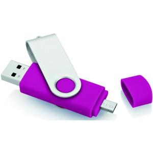CLE USB PIVOTANTE AVEC DEUX CONNECTEURS PUBLICITAIRE