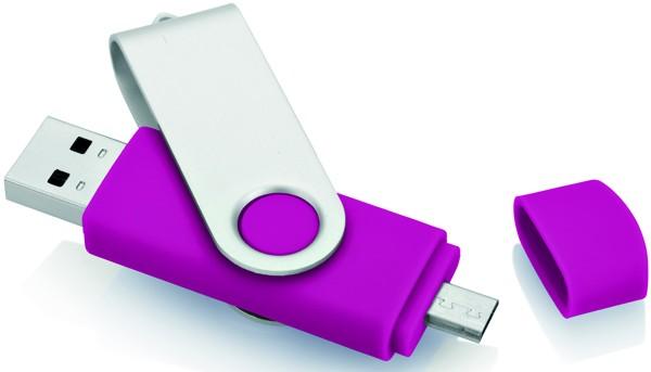 CLE USB PIVOTANTE AVEC DEUX CONNECTEURS