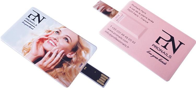 CLE USB CARTE DE CREDIT IRIS