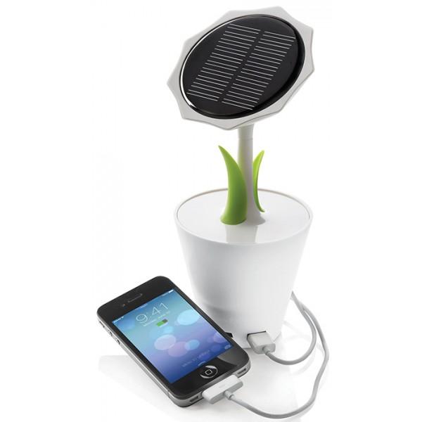 batterie de secours solaire fleur publicitaire marquage personnalis. Black Bedroom Furniture Sets. Home Design Ideas