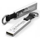 CLES USB METAL AVEC PORTE CLES PUBLICITAIRE