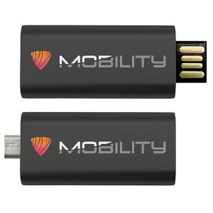 CLE USB QUADRI 2 CONNECTEURS PUBLICITAIRE