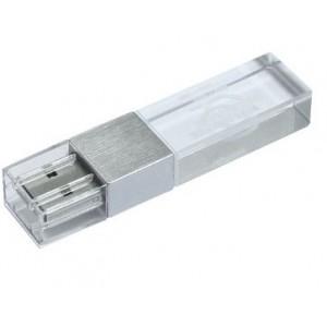 CLE USB LED EN VERRE ET ACIER PUBLICITAIRE