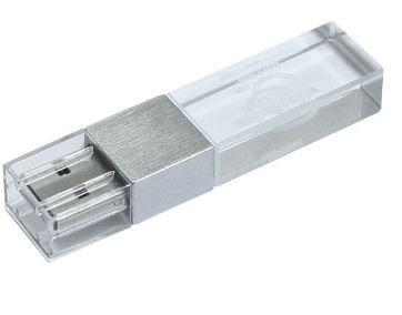 CLE USB LED EN VERRE ET ACIER