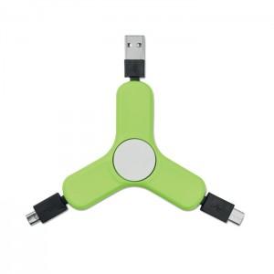 TOUPIE ANTI STRESS AVEC 3 CONNECTEURS USB TYPE C PUBLICITAIRE