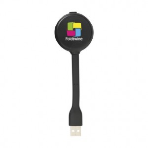 LAMPE AVEC HUB 4 PORTS USB ELORIE PUBLICITAIRE