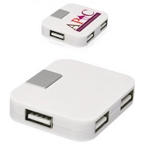 HUB USB 4 PORTS COMPACT QUADRI PUBLICITAIRE