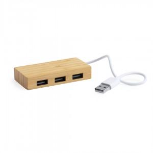 HUB USB 3 PORTS EN BAMBOU BARIA PUBLICITAIRE