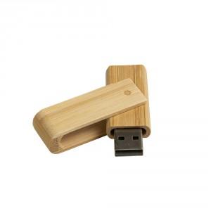 CLE USB PIVOTANTE BAMBOU PUBLICITAIRE