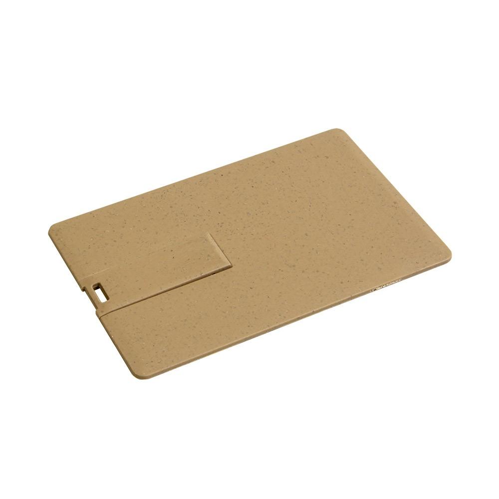 CLE USB CARTE DE CREDIT EN FIBRE DE BLE JANET